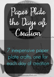 Paper Plate the Days of Creation | 7 inexpensive paper plate crafts, one for each day of creation. Kid's crafts for VBS, Sunday School, Children's Church, or home