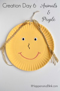 Creation Day 6: People and Animals | Craft centered around the sixth day of Creation. Easy and inexpensive craft for home, VBS, Sunday School, or Children's church
