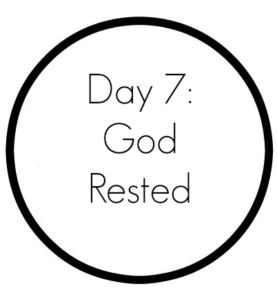 Creation Day 7 : A Simple Rest Craft | Completing the days of Creation in the Craft Through the Bible Series. Inexpensive craft for home, Sunday School, Children's Church, or VBS