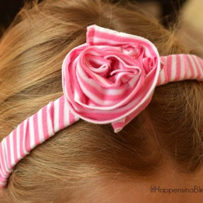Big Ruffled Rose Headband from the book DIY T-Shirt Crafts