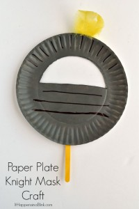 Paper Plate Knight Mask | Use a paper plate and craft supplies to create a Knight mask for a fun craft or for a party