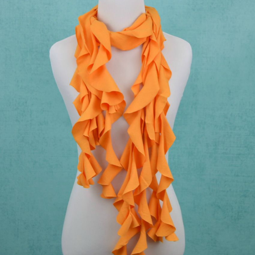 Ruffle Scarf from DIY T-shirt crafts