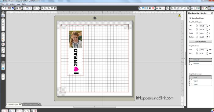 Canvas Photo Bookmark |  AD |  Use printable canvas and the Silhouette machine to create a photo bookmark