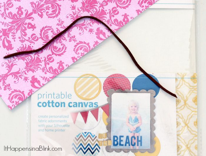 Canvas Photo Bookmark    AD    Use printable canvas and the Silhouette machine to create a photo bookmark