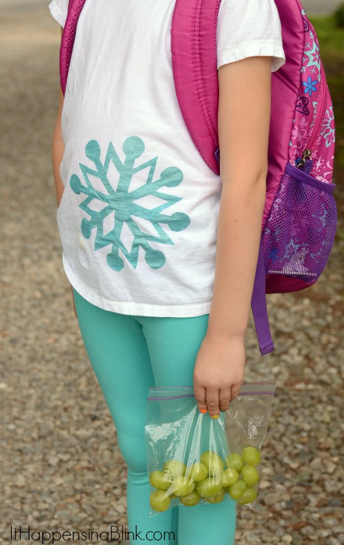 DIY Painted FROZEN Inspired Shirt  |  AD  |  Use fabric paint and a vinyl outline to create an easy FROZEN inspired shirt. This is another quick Cricut project!