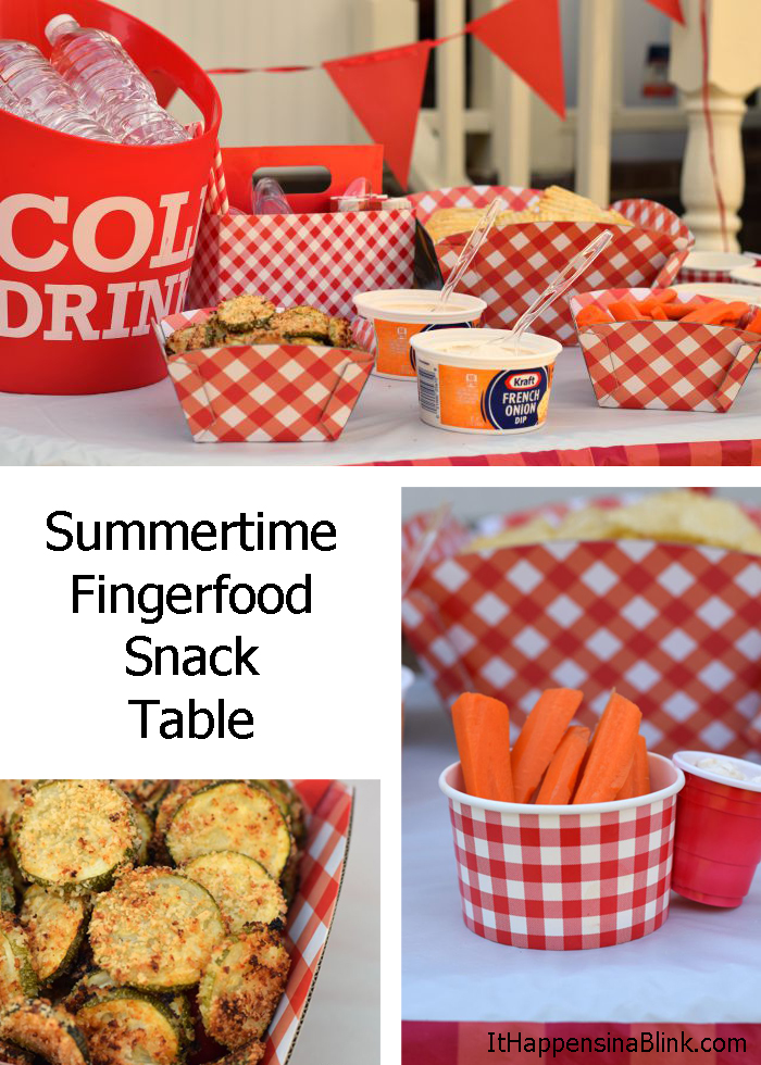 Summertime Fingerfood Snack Table |  #DipYourWay AD