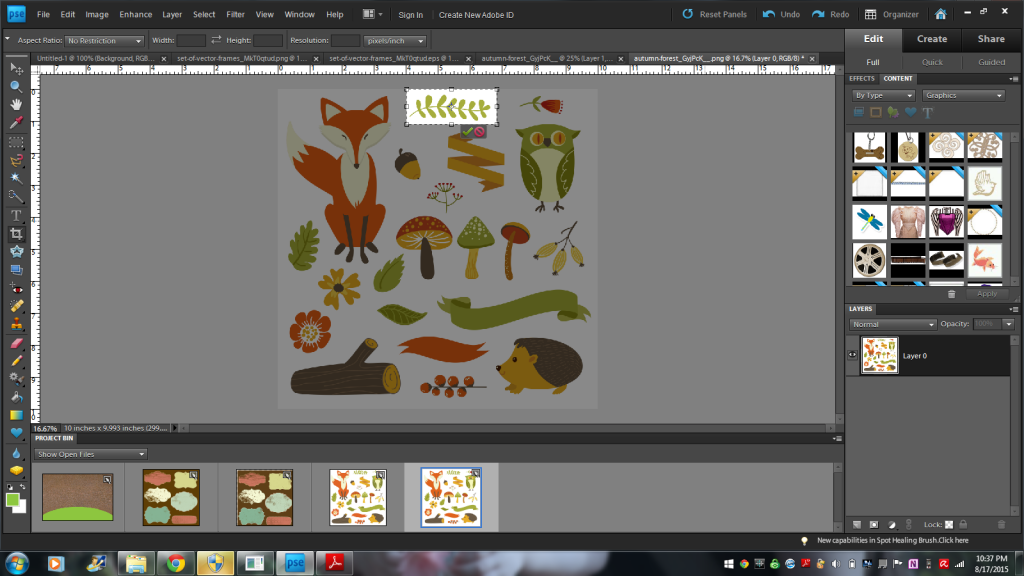 How to Create a Woodland Forest Animals Invitation with GraphicStock Images   AD