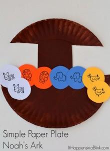 Simple Paper Plate Noah's Ark