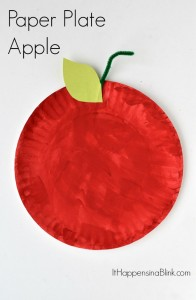 Paper Plate Apple Craft for Kids