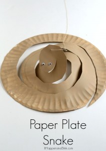 Paper Plate Snake | Part of the Craft Through the Bible Series. Great for VBS, Sunday School, or Children's Church. Also can be a preschool paper plate craft