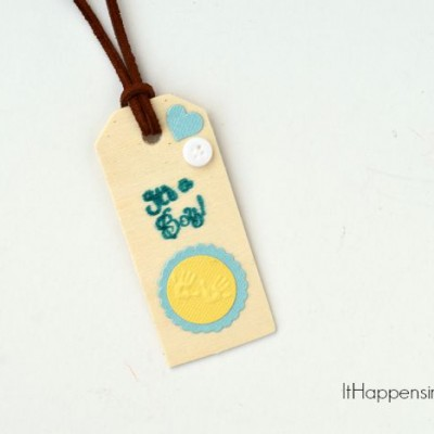 Stamped Wood Gift Tag | Stamp on unfinished wood to create a gift tag