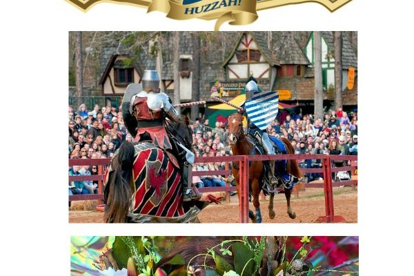 FREE Child Admission! - Receive one FREE child admission for children age 5 - 12 with purchase of one full price adult ticket at Festival gate at the Carolina Renaissance Festival AD