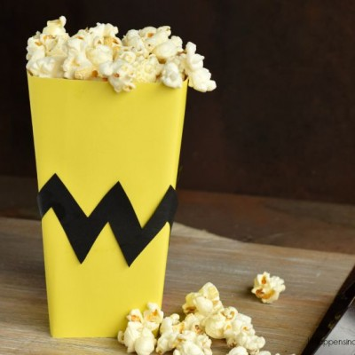 Charlie Brown Inspired Popcorn Box