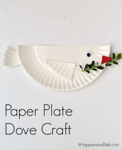 Dove Paper Plate craft for kids | Great craft for VBS, Sunday School, or Children's Church. Genesis 8.
