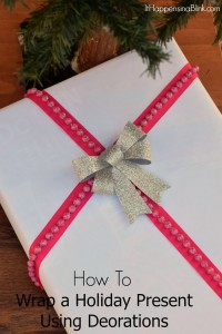 How to Wrap a Present Using Holiday Decorations | AD #BigLots #BigSeason | Use decorations to embellish a lovely holiday present