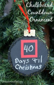 Chalkboard Countdown Ornament | AD | Use chalkboard paint to create a DIY Chalkboard Ornament craft