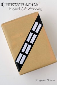 Surprise the Star Wars fan in your life with this Chewbacca Inspired Gift Wrapping.
