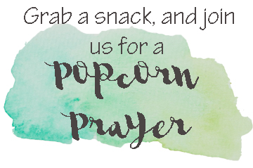 Popcorn Prayer printable | AD | FREE Printable for a prayer themed gathering or movie night