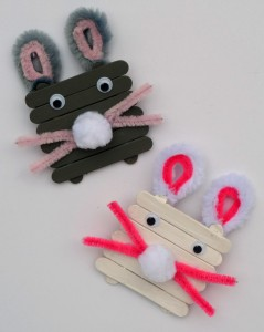 Craft Stick Bunnies   This Easter kid's craft is fun and easy!