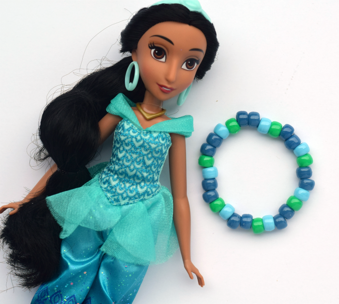 Simple Pony Bead Bracelet | Disney Princess Inspired Bracelets | #InspireBigDreams AD