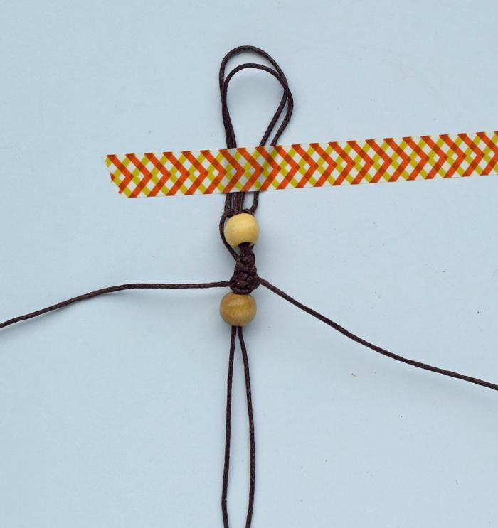 Wood Bead Knotted Bracelet | #InspireBigDreams AD