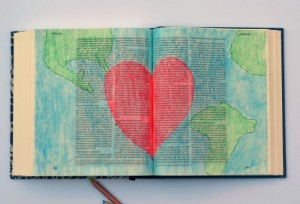 John 3:16 Bible Journaling Entry