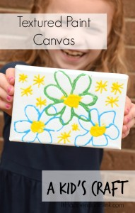 Textured Paint Canvas Kid's Craft | Use textured paint to let kids create a fun canvas