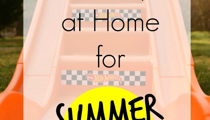 Outdoor Items to Keep at Home for Summer Fun AD | A simple list of items to keep on hand for outdoor play at home. The list is pretty self-explanatory, but it is nice to have the items in one place for reference!