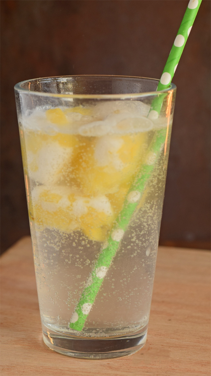 Pineapple and Coconut Ice Cubes   AD Freeze pineapple cubes to create an extra burst of fruity flavor for sparkling water