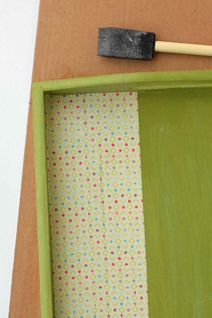 Painted and Washi Tape Tray AD Use chalky finish paint, washi tape, and Mod Podge to customize a wooden tray. Easy DIY craft project