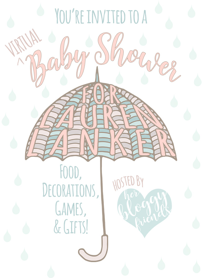 A virtual baby shower with food, decorations, gift ideas, games, and more!