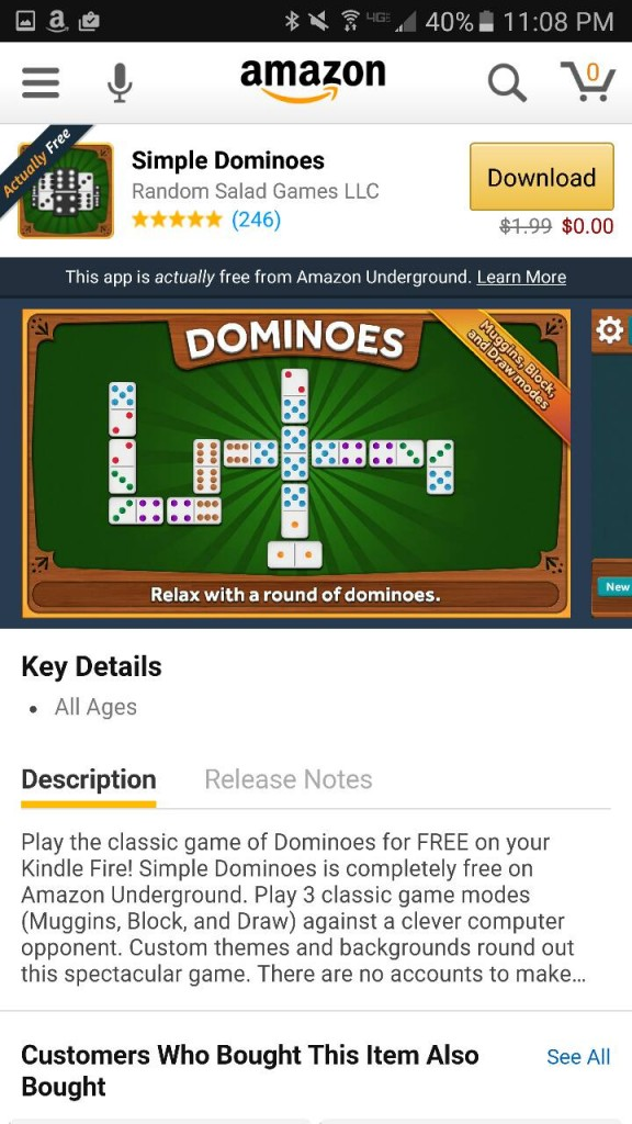 Simple Dominoes Amazon Underground App AD