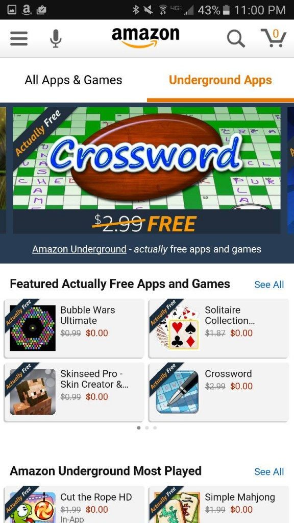 Amazon Underground Apps AD