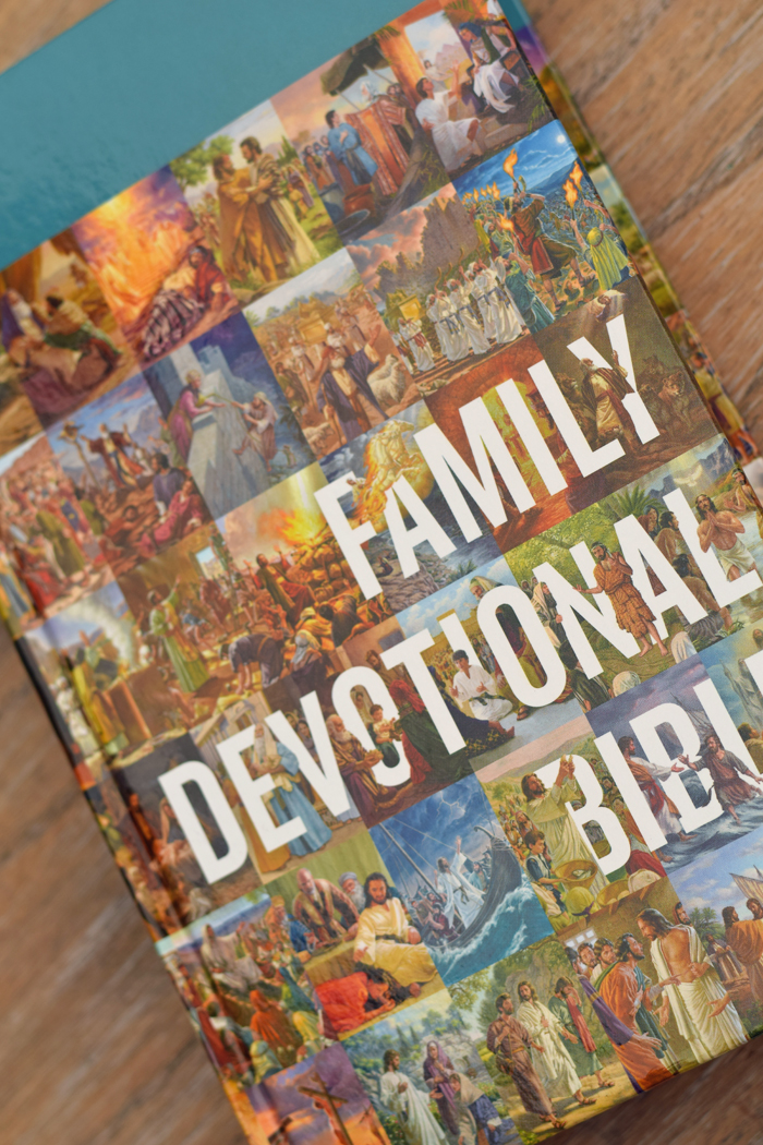 ESV Family Devotional Bible AD A good resource for families looking to establish a daily family devotional habit, discuss Biblical principles, and apply them to life.