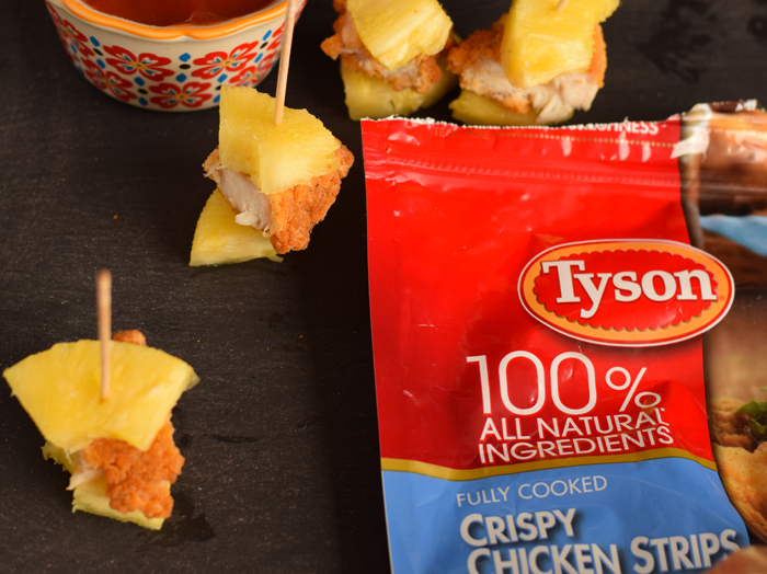 [ad] Pineapple Chicken Kabobs #TMNT2andTyson