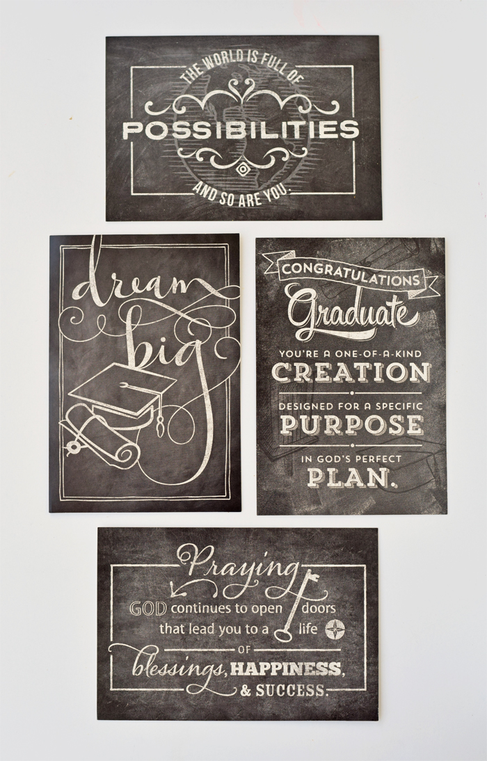 Easy Gifts to Encourage Graduates, including these cute cards!