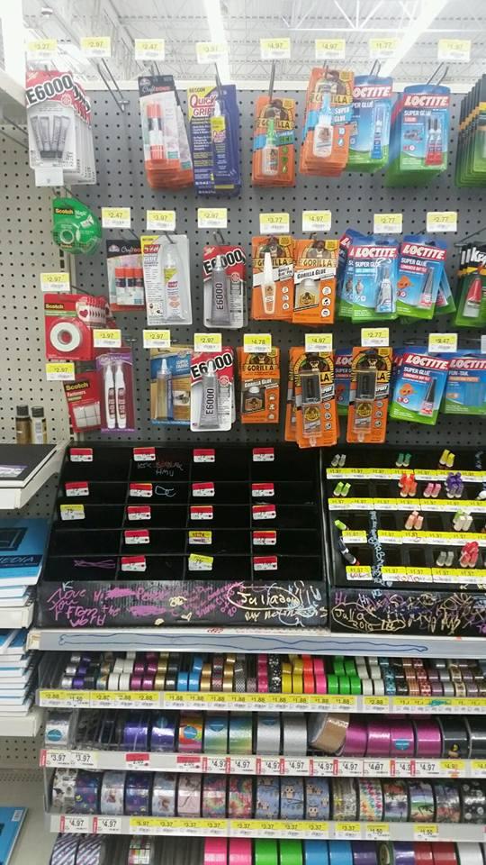 #SpringCreations AD Crafting aisle at walmart