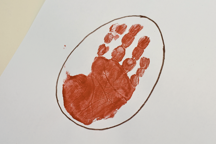 Letter E is for Egg Handprint Art for Preschoolers