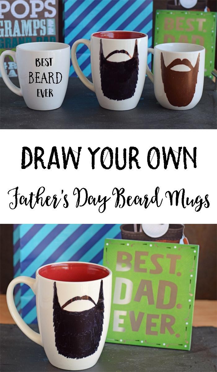 How to Draw Your Own Father's Day Beard Mug