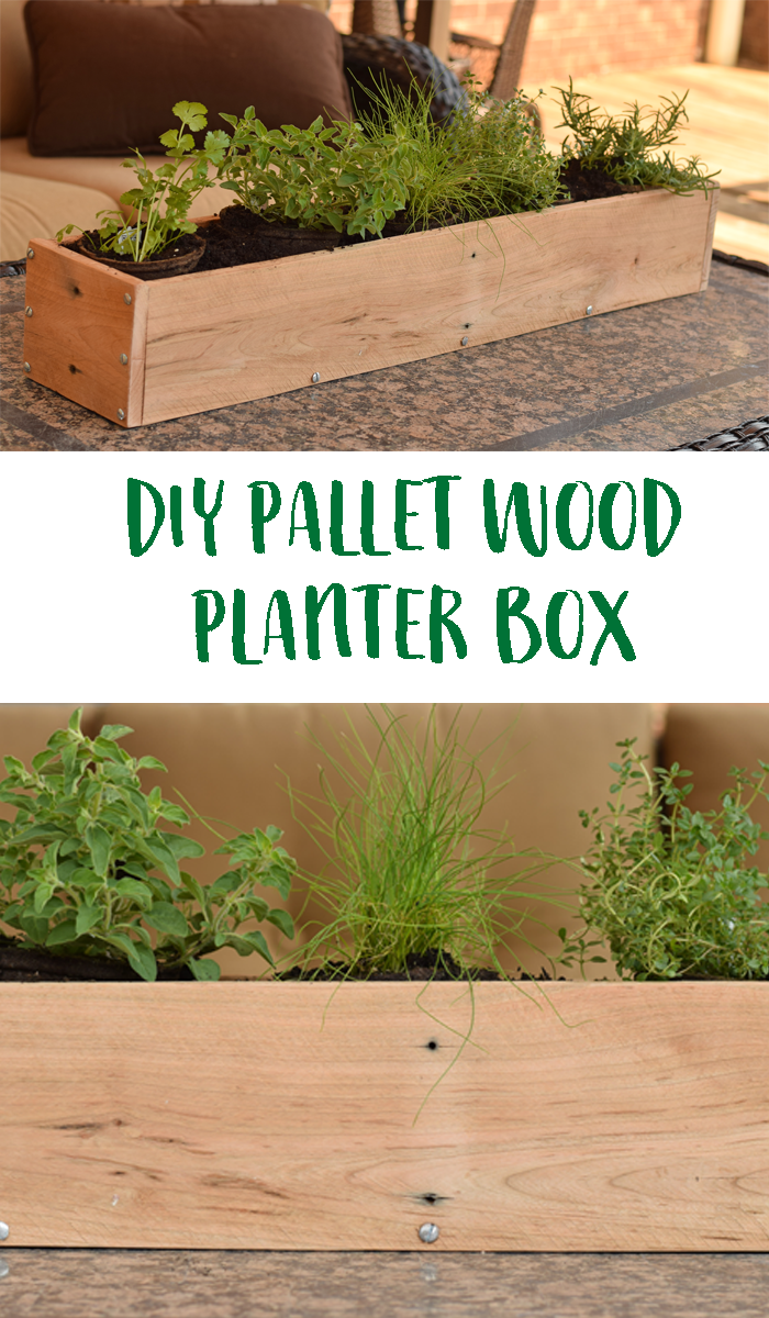 DIY Wood Pallet Planter Box AD