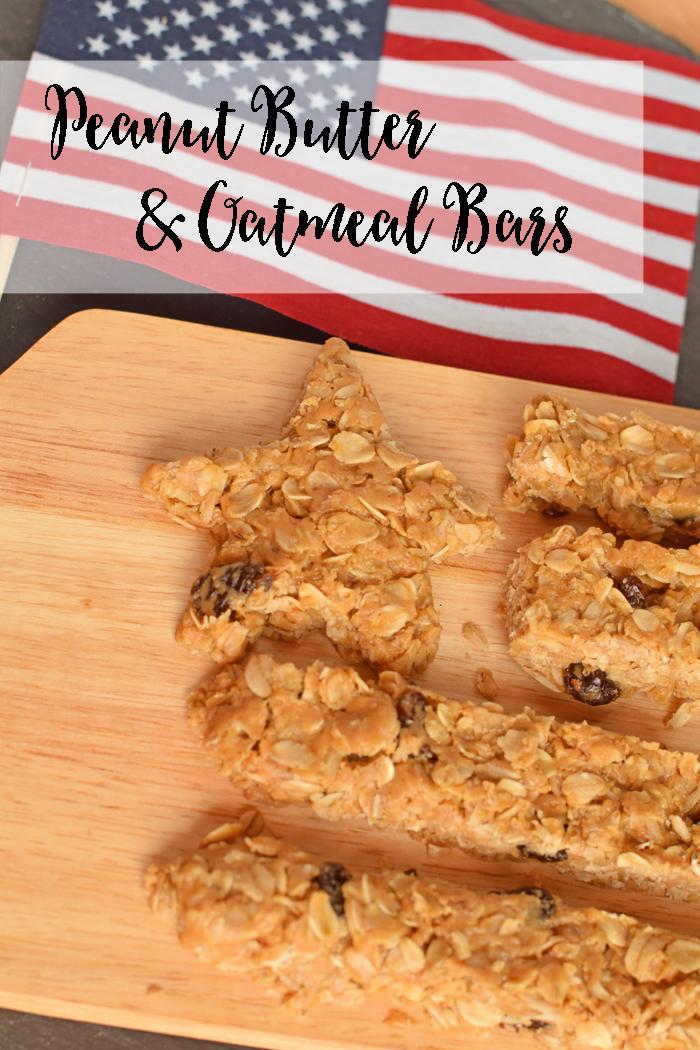 Stars & Stripes Peanut Butter Oatmeal Bars AD