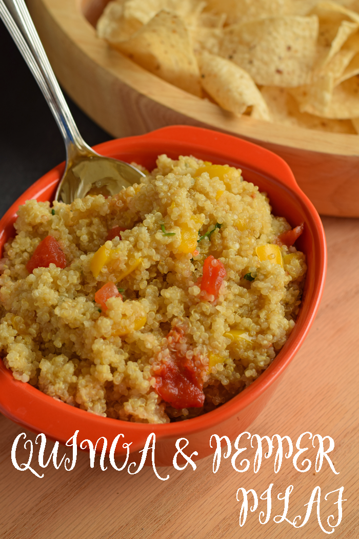 Quinoa and Pepper Pilaf AD Great recipe for block parties and potlucks!