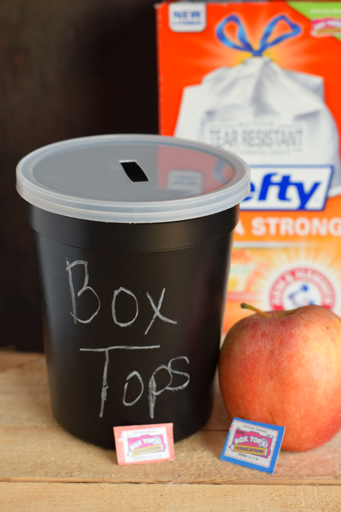 Chalkboard Box Top Container AD