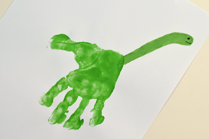 Letter D Dinosaur Handprint Art for Kids
