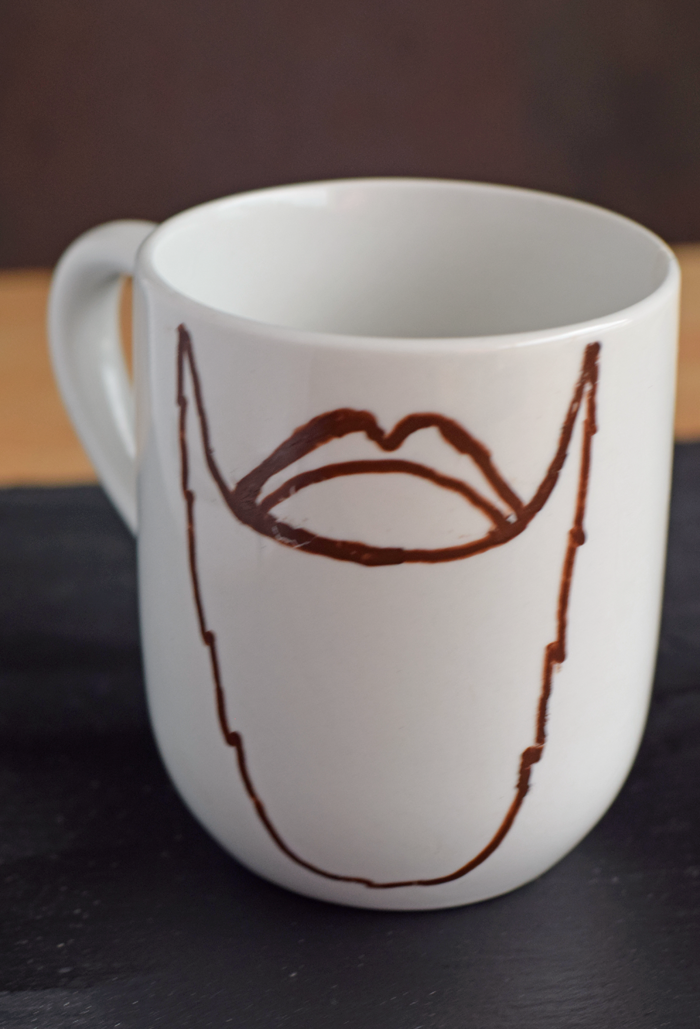 How to Draw Your Own Father's Day Beard Mug AD