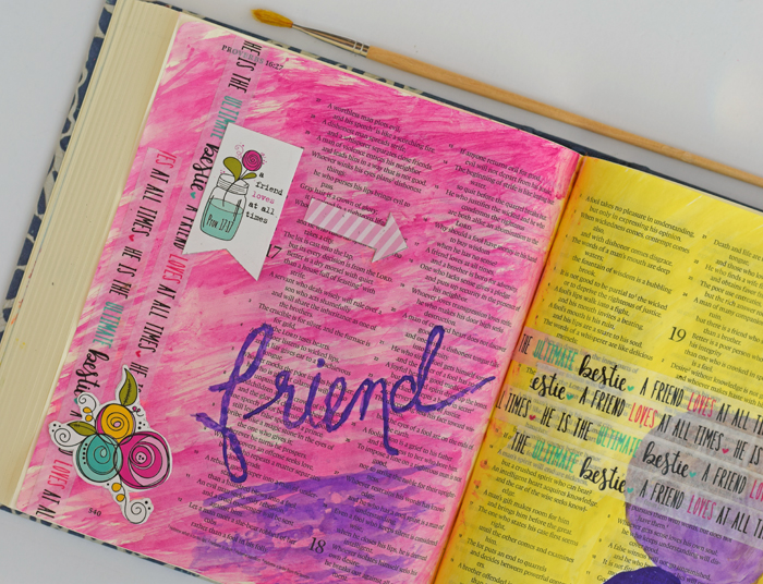 Blessings or Lessons Bible Journaling with Illustrated Faith and Dayspring AD