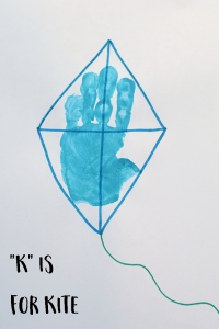 "Letter ""K"" Kite Handprint Art for Preschoolers"