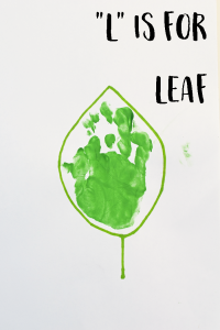 "Letter ""L"" Leaf Handprint Art for Preschoolers"