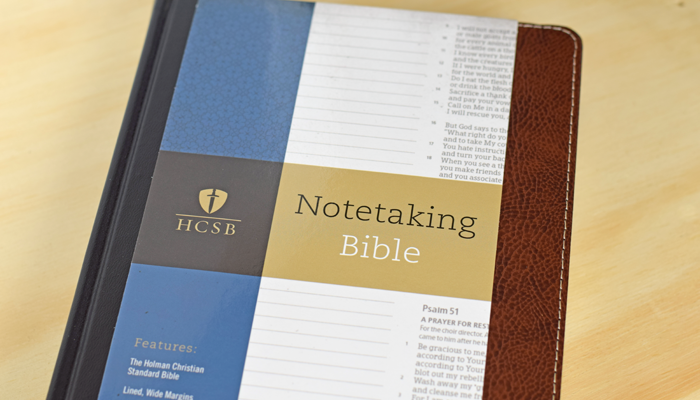 The HCSB Notetaking BIble is a great Bible for note takers or Bible Journaling. AD