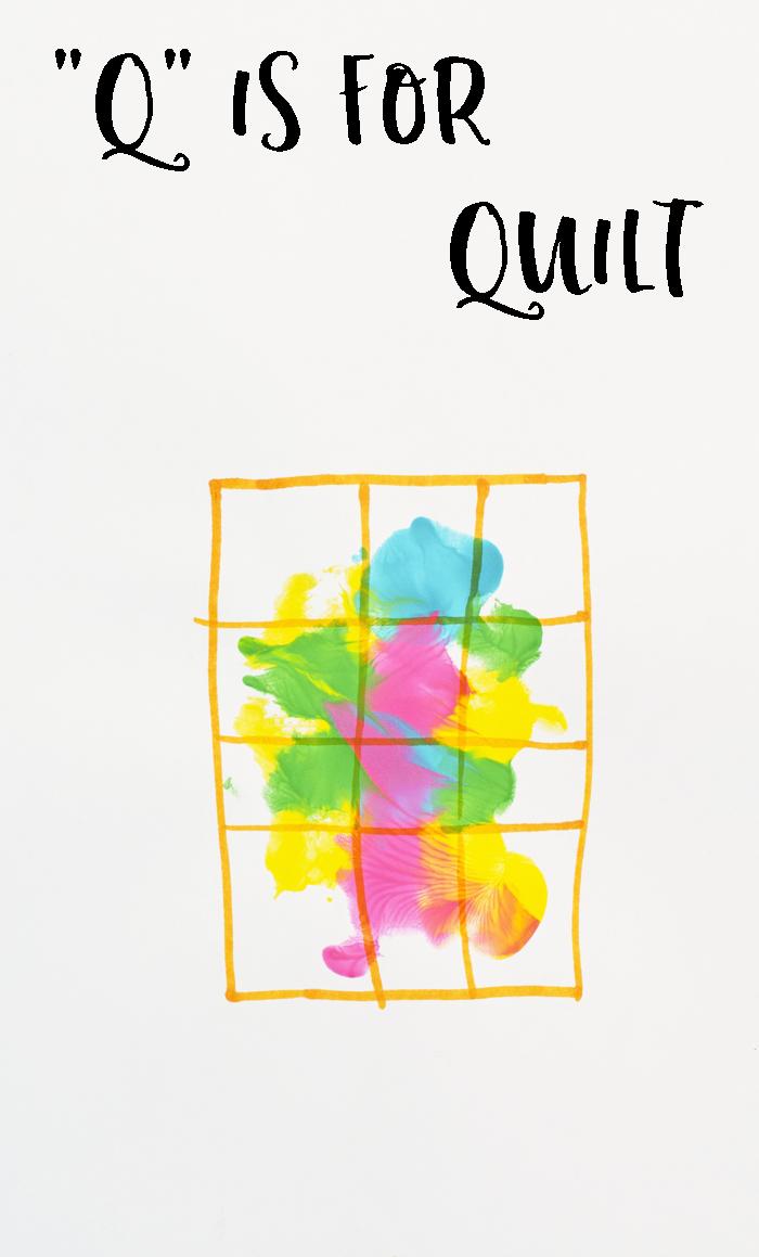 "Letter ""Q"" Quilt Handprint Art for Preschoolers"